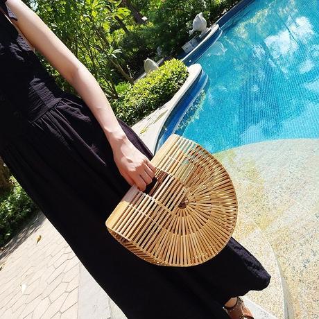 【インスタで話題!】バンブー 竹編み かごバッグ