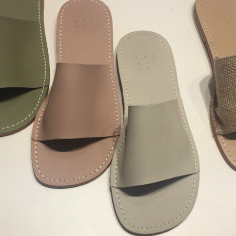 Soft eco leather  slide