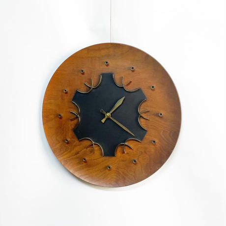 Wood wall clock 50's-60's