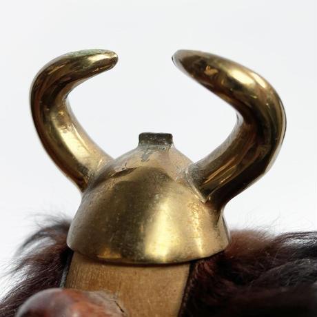 Wood & brass viking  60's