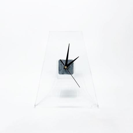 Lucite table clock 1976's