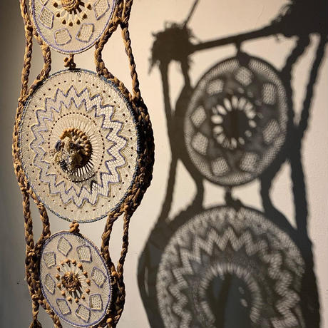 Handmade macrame  tapestry 1977's