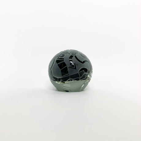 Carved glass sphere sculpture 1987's