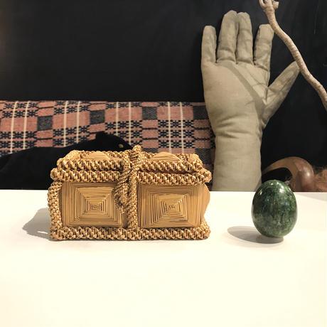 Hand made straw box 1973's