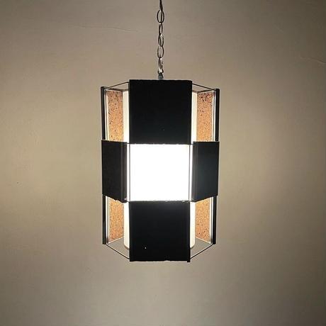 Cork panel pendant lamp 70's