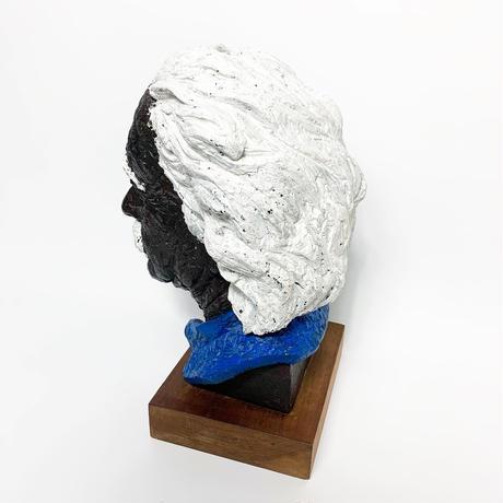 Hand painted plaster Einstein