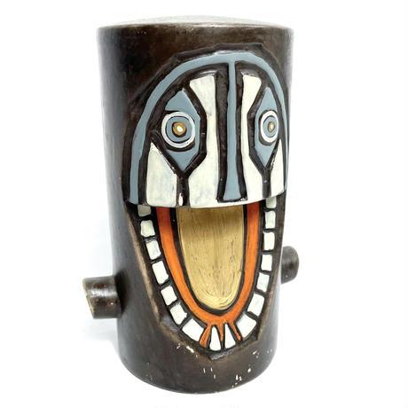 Ceramic face sculpture