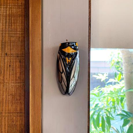 Ceramic cicada sculpture vase