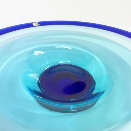 Gradation glass art plate 60's - 70's
