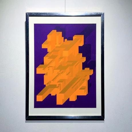 Op art lithograph 70's〜80's