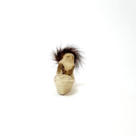 Carved bone Eskimo sculpture
