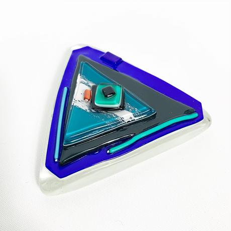 Triangle glass sculpture 1992's
