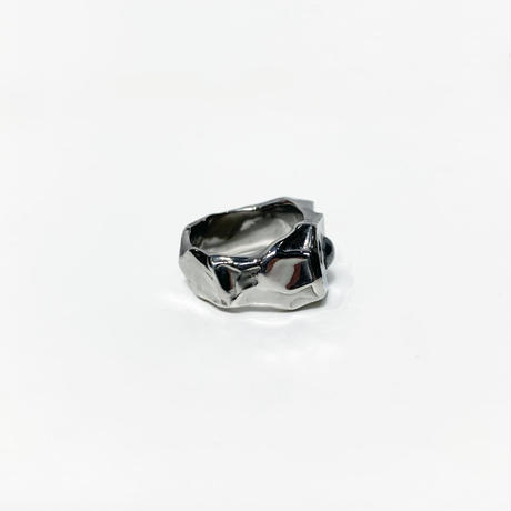 〈miku  fukamitsu〉すすむリング(silver925/BKrhodium)