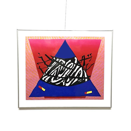 Abstract lithograph 1992's