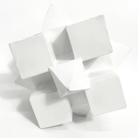 Geometric plaster sculpture