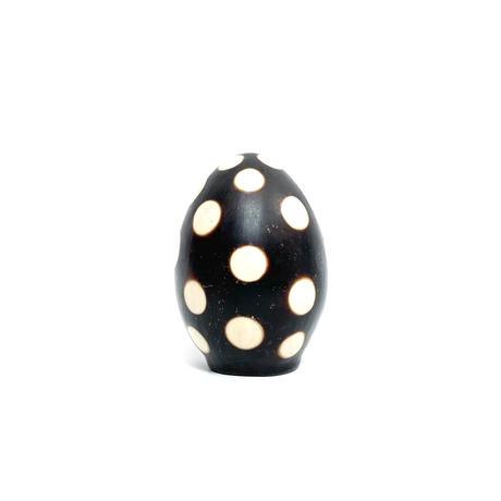 Dot pattern ceramic egg