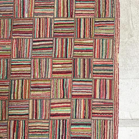 Handmade multicolor crazy ragrug