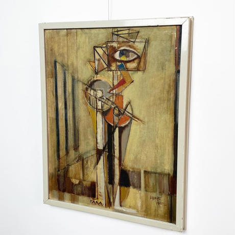 Abstract oil painting 1955's
