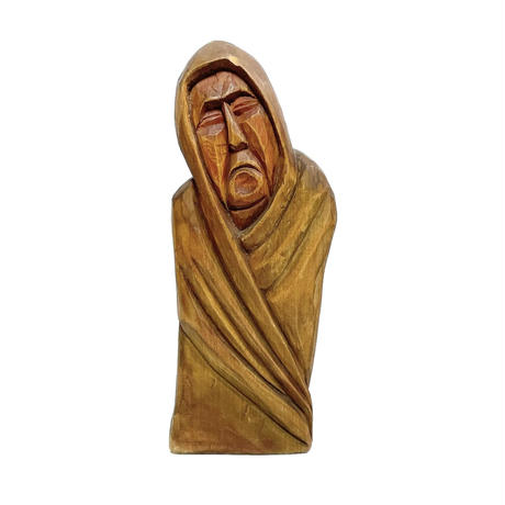 Carved wood monk  1978's