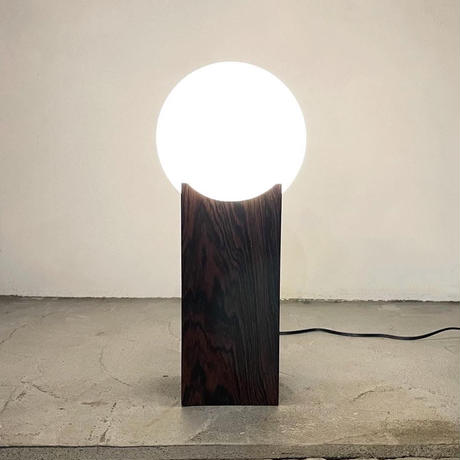 Wood table lamp 70's