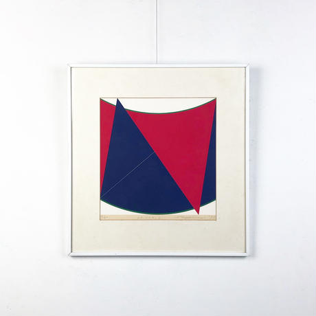 Abstract graphic lithograph 1977's