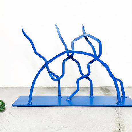 Abstract metal sculpture 80's