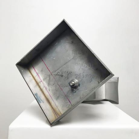 Handmade aluminum modern sculpture