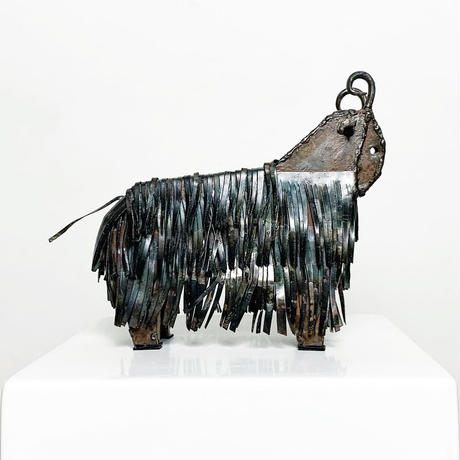 Handmade iron angora goat