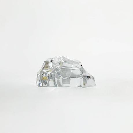 Crystal glass sculpture