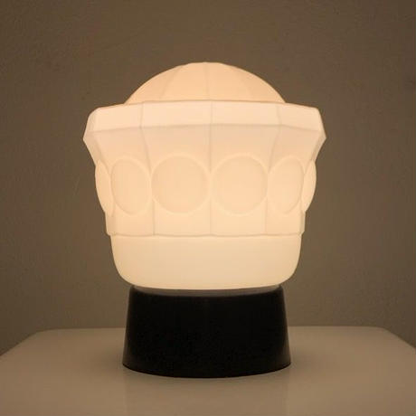 Belgium glass table lamp 30's