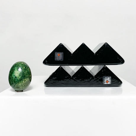 Glass art  bookend 70's - 80's (pair)