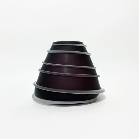 Spiral art glass vase