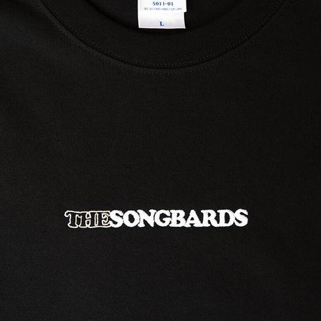 刺繍ロングTシャツ ブラック