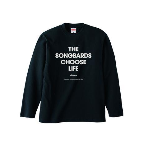 """""""CHOOSE LIFE"""" ロングTシャツ ブラック"""