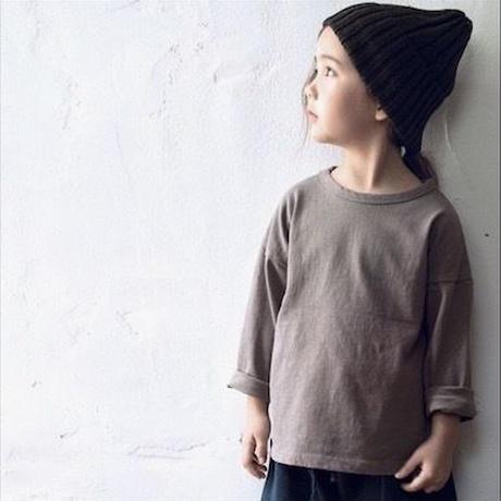 【送料無料】long sleeves T-shirt (gray)