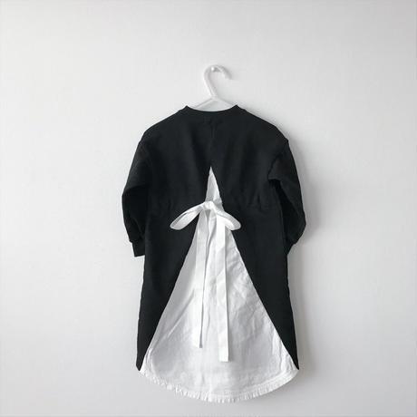 【送料無料】back ribbon one-piece(black×white)