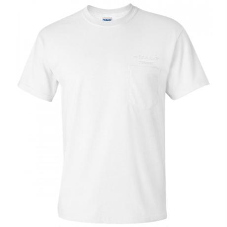 ゆうらん船ロゴ 刺繍ポケットTシャツ【WHITE】