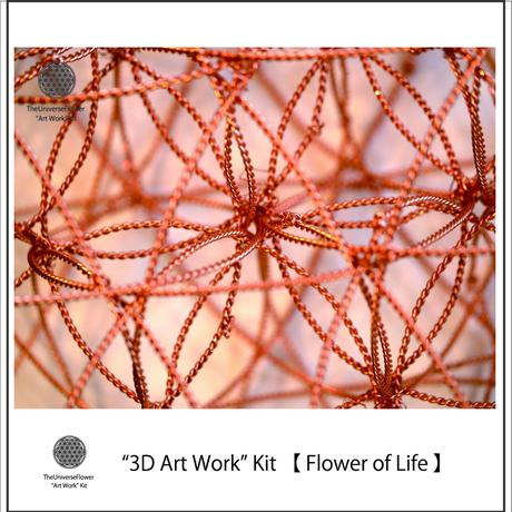 """3D Art Work"" Kit  【 Flower of Life  :Central part 】"