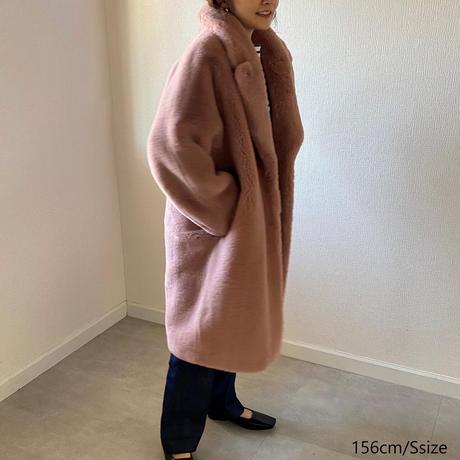 Eco Fur Tailored Coat