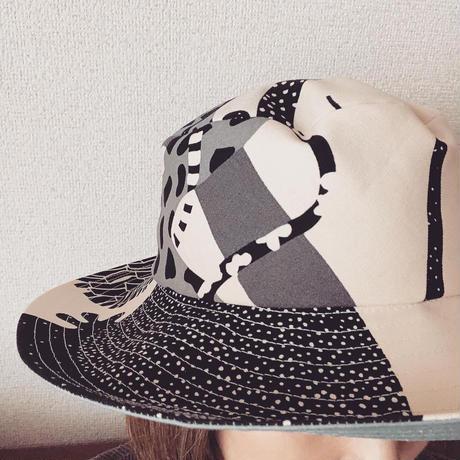 草木柄HAT