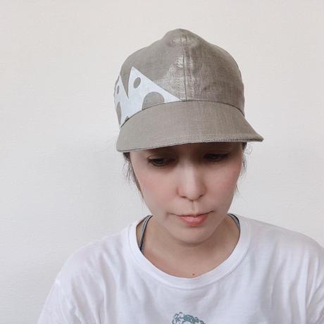 シルバーCAP(ギザギザプリント)