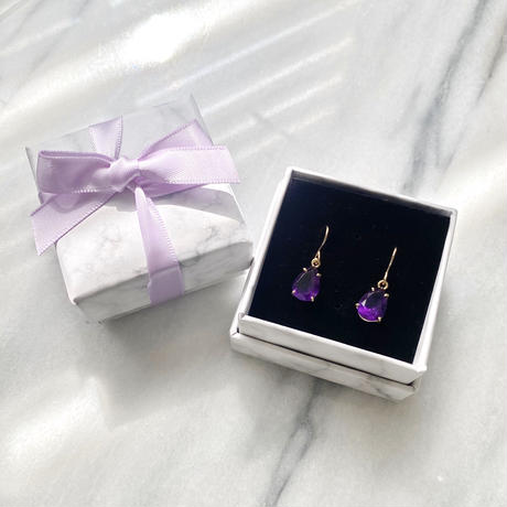 Autumn amethyst purple crystals 14kgf  hook piercing