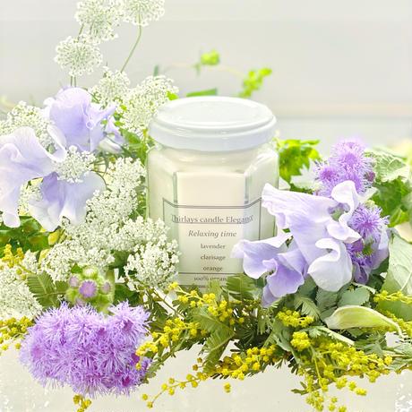 【Relaxing time】美しき地球のオーガニック贅沢ブレンドアロマsoy candle〜サステナブルcandles〜