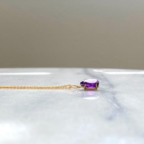 Autumn amethyst purple crystals 14kgf  necklace