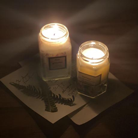 最高級organic aroma candle〜spiritの喜び〜【Roseの幸せキャンドルテラピー】