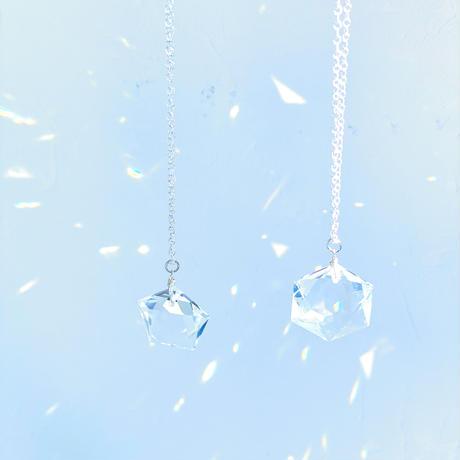 六芒星天然水晶 silver925 宇宙の源へ戻る旅 虹色の光ネックレス 最高品質