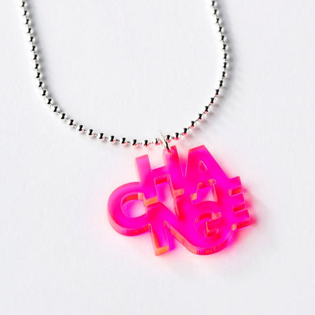 CHANGE_necklace(蛍光ピンク/クリア)