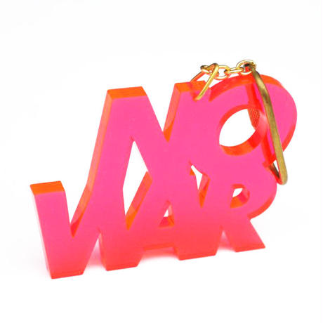 """NO WAR"" key ring"