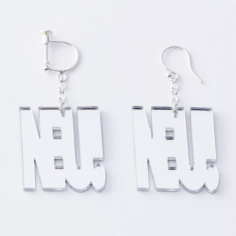 """NEU!"" earring or pierce(ミラー)"