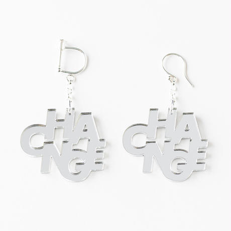 CHANGE_earring or pierce(ミラー)